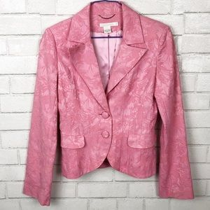 Guess Collection Blush Pink Embroidered Blazer